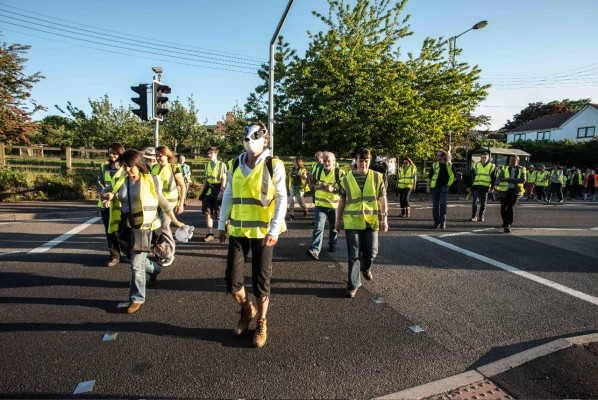 Somerset Nightwalkers set off on peaceful protest
