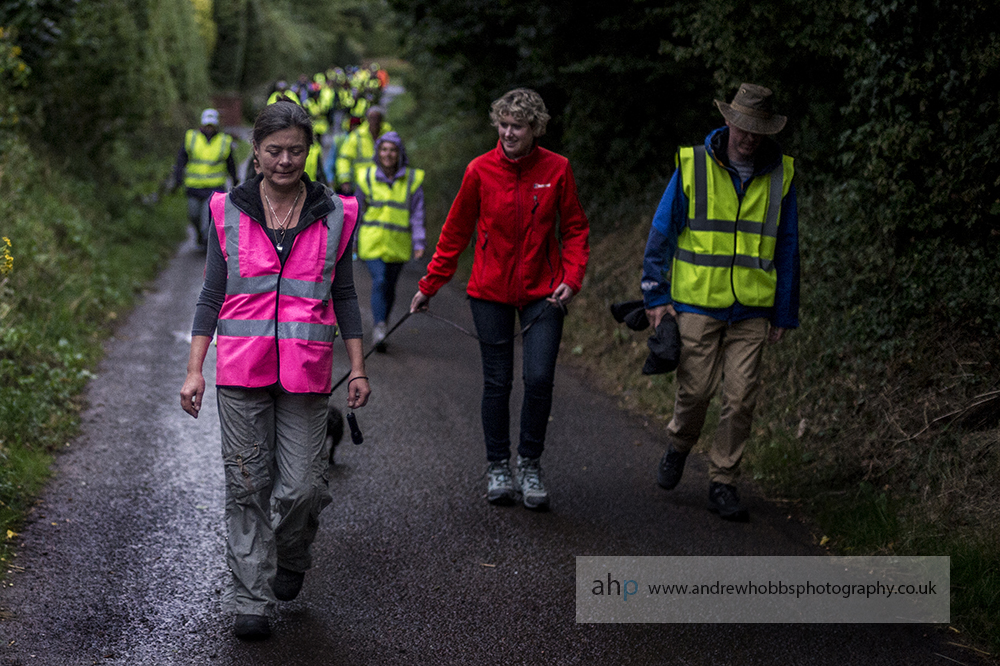Group organiser Sara Palmer leads the group on the walk out of Carhampton